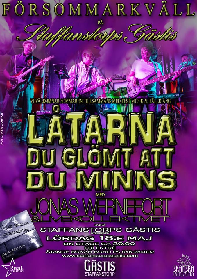 evenemang, försommarkväll, livemusik, gästis, staffanstorp, wernefort, event, show