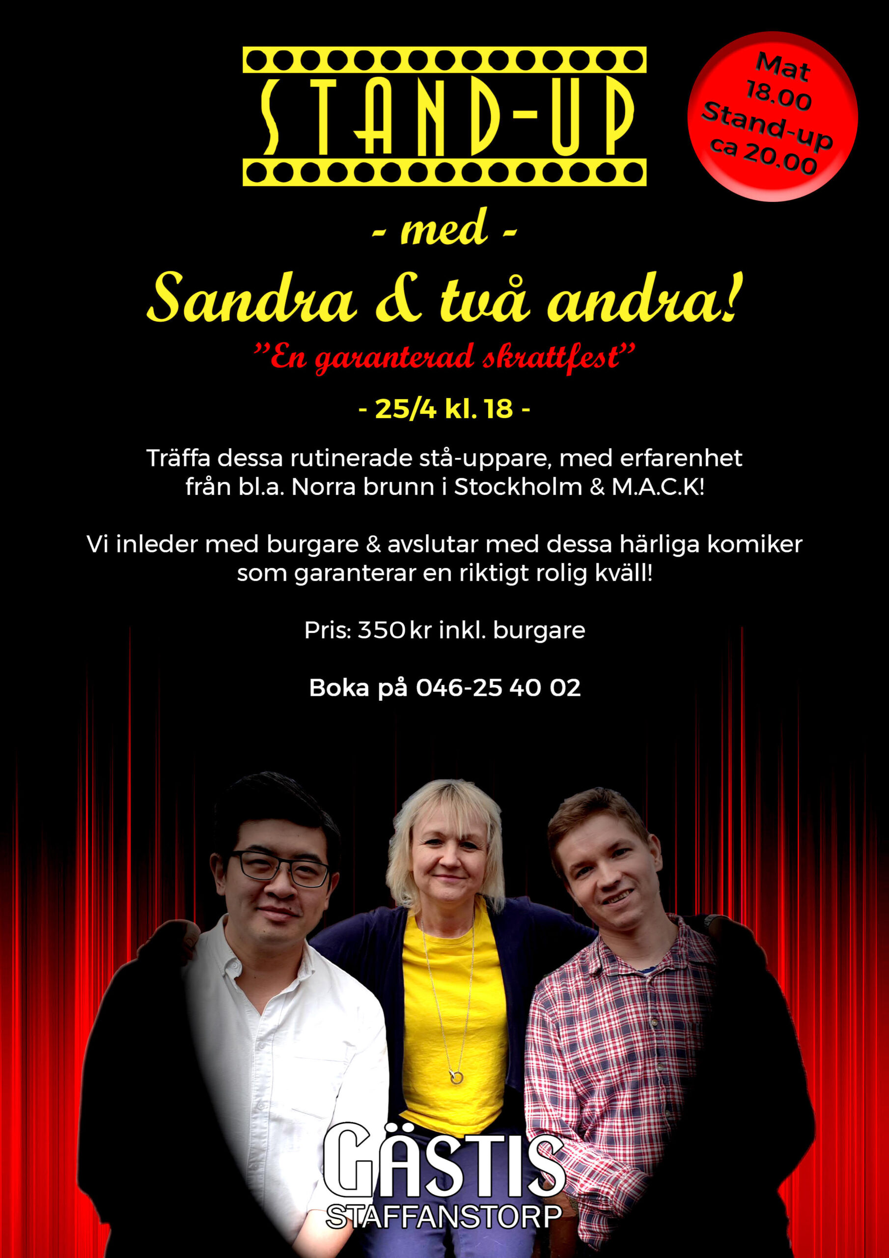 Standup, mack, comedy, underhållning, stand-up, norra brunn